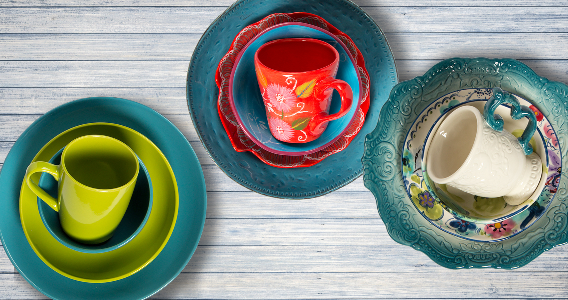 serve  ttu serveware  dinnerware sets - mix  match solid colors patterns and materials for settings that areuniquely you